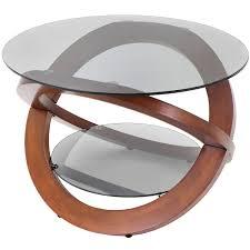 amazon com woybr tb sw bent wood glass linx coffee table