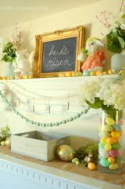 easter mantel decorations easter living room decor 2016 craft o maniac