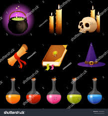 halloween dark background magic theme illustrations halloween icons transparency stock