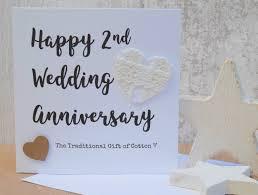 2nd wedding anniversary 2nd wedding anniversary gift cotton script card ebay