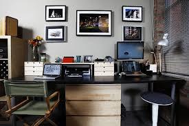 2 Person Computer Desk Interior Modern Rustic Office Furniture Large Porcelain Tile