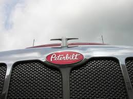 peterbilt ornament and logo plate onbstainless steel grill