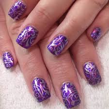 24 purple nail art designs ideas design trends premium psd