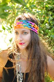 hippie bands rainbow hippie headband boho style women s hair bands