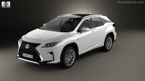 lexus black 2016 360 view of lexus rx f sport 2016 3d model hum3d store