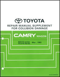 2002 toyota camry service manual 1992 1996 toyota camry wagon collision repair shop manual