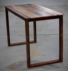 Rustic Wooden Desk Modern Rustic Varnished Walnut Wood Standing Desk Using