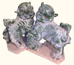 foo dogs for sale asian sitting foo dog statues in green rustic finish 14 h