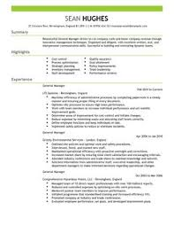 resume example word document general manager cv example for management livecareer