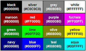 grey css css hex color table chart siteninja cms