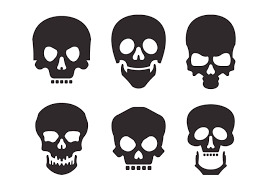 halloween skeleton silhouette free vector skull silhouette vector set 11730 my graphic hunt