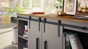 barn door for kitchen cabinets barn door hardware miniature cabinet sliding door set