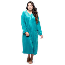 Full Length Bathrobe La Cera Womens Plus Size Zip Front Bath Robe Products