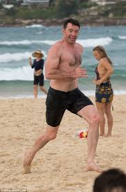Hugh Jackman Hugh Jackman Launches Into A Sprint At Bondi Daily Mail