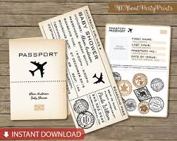 boarding pass invitations instant vintage boarding pass passport baby shower