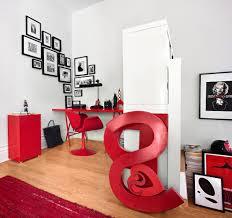 modern corner desk bedroom with platform bed contemporary picture