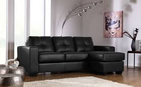 Pictures Of Living Rooms With Black Leather Furniture Astonishing Black Leather Sofa Idea With Cozy Rest Design