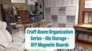 Jennifer Mcguire Craft Room - craft room organization die storage diy magnetic board youtube