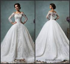 wedding dress with detachable gorgeous 2016 sheer amelia sposa wedding dresses detachable remove