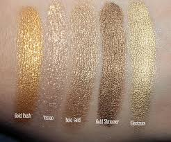 swatches and comparison maybelline color metal collection