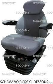 siege pneumatique tracteur agricole siège kab 85 e6 tracteur tissu pneumatique petit