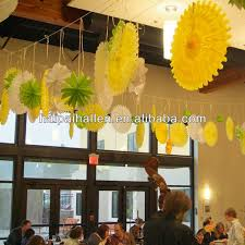hanging paper fans colorful tissue paper fan hanging paper fan for party decoration