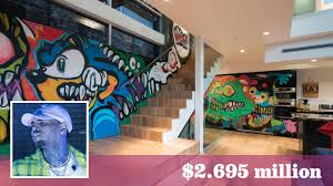 chris brown u0027s former hollywood hills home retains its colorful