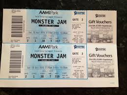 monster truck show melbourne 2014 monster jam tickets inc pit passes for sale saturday 10 october