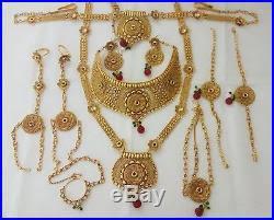 gold har set indian fashion jewelry bridal necklace har ethnic