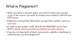 how to write references in research paper works cited parenthetical citations and plagiarism ppt download 2 what is plagiarism when you write a research paper