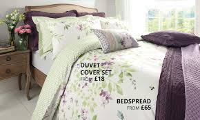 wisley floral green bedding collection dunelm