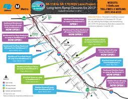 Caltrans Traffic Map I 5 Ramp Closures Between Sr 118 And Sr 170 Caltrans District 7