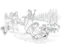 Baby Moses Coloring Page Odvedite Me Bible Coloring Pages Moses