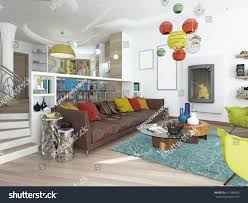 contemporary living room luxury livingroom style kitsch contemporary living stock