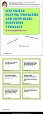 25 best problem solving activities ideas on pinterest problem 180 game or task card for verbal problem solving with special needs students from middle school