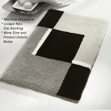 Black And White Bathroom Rugs Contemporary Black And White Bath Rugs Vita Futura