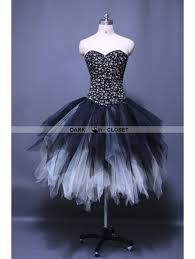 Gothic Punk Ankle Length Puffy Corset Prom Party Dress