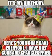 My Birthday Memes - grumpy cat birthday meme imgflip
