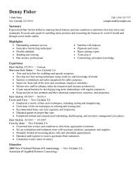 Fashion Resume Samples by Hair Stylist Resume Samples Objective Interesting Salon And Sample