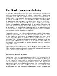 the bicycle component industry road vehicles industries