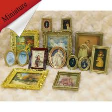 aliexpress com buy 4pcs vintage miniature dollhouse framed wall
