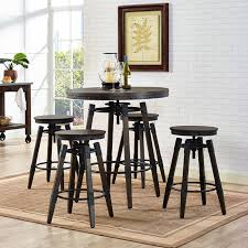 adjustable height bar table industrial adjustable height bar table set w backless barstool