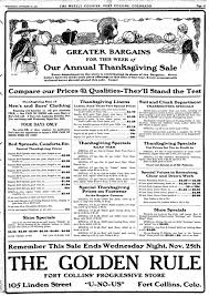 thanksgiving rule happy thanksgiving fort collins of 1908 forgotten fort collins