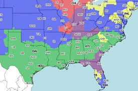 Jacksonville Fl Map Jaguars Vs Colts Tv Viewing Map For Week 4 On Cbs Big Cat Country
