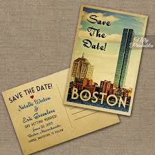 postcard save the dates boston save the date postcards vintage travel save the date