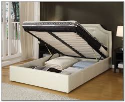 Under Bed Storage Ideas Contemporary Bedroom With White King Platform Full Bed Frame