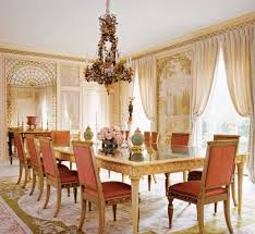 luxury dining room with victorian style and sweet decor
