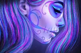skull makeup hair day of dead sugar skull