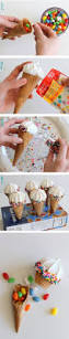 pinata ice cream cones diy recipe nobake fun idea for a rainbow