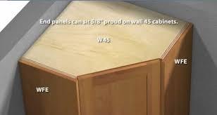 corner wall cabinet in kitchen 1 door 45 degree wall cabinet